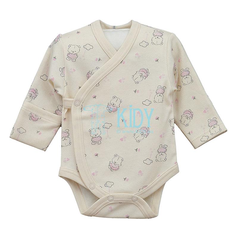 Кремовый боди-кимоно LILI из органичского хлопка