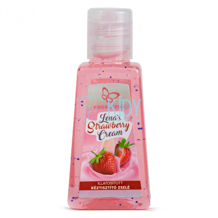Rankų dezinfekavimo želė STRAWBERRY CREAM kudikiui