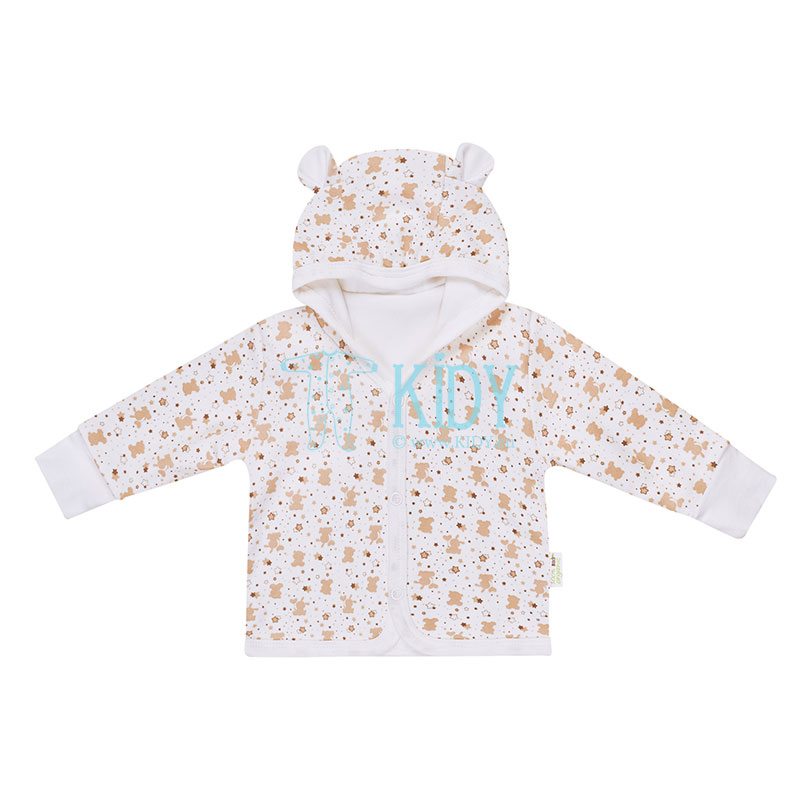 Beige ORGANIC hooded shirt with 3D ears