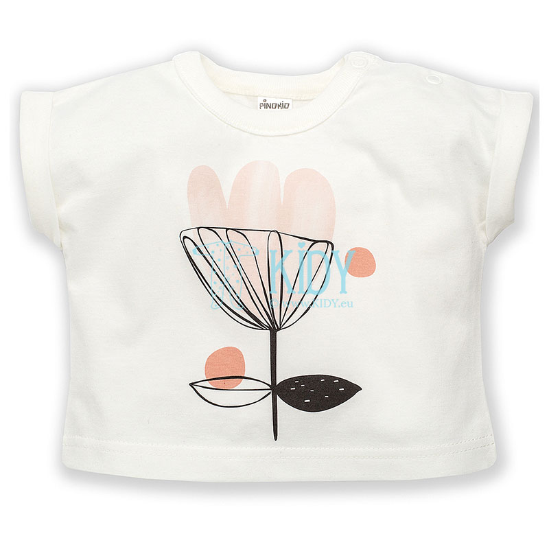 Ecru TINY FLOWERS T-shirt