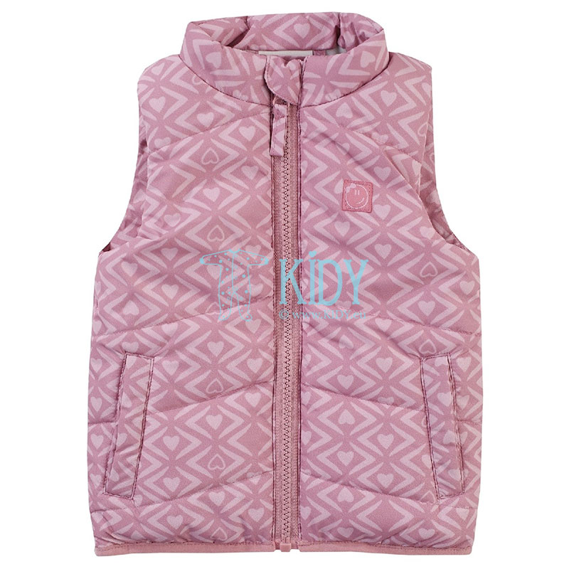 Pink OUTDOOR vest for girls