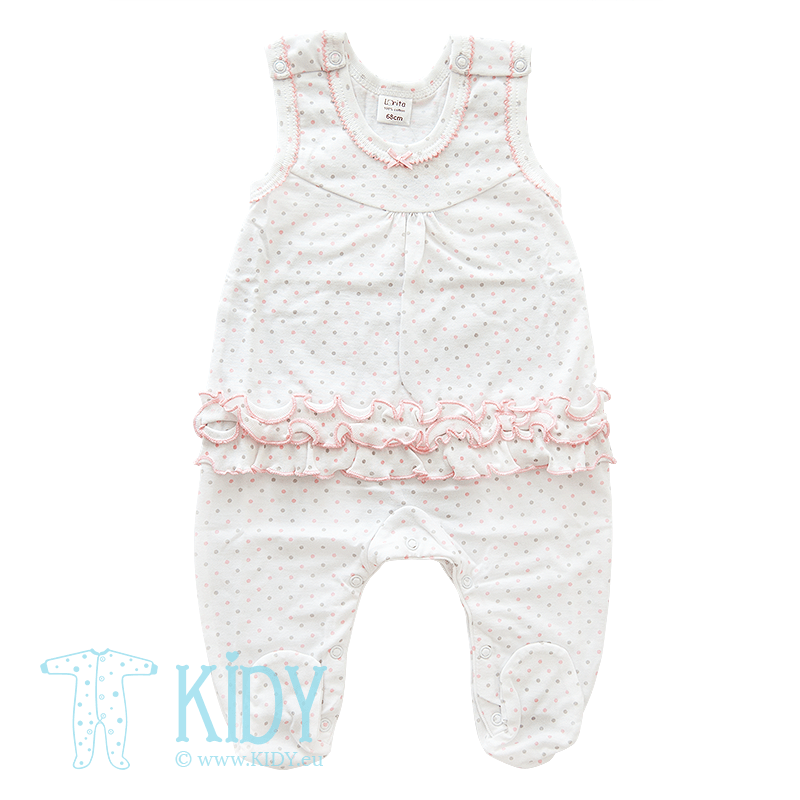 White romper ANABELE with feet (Lorita)