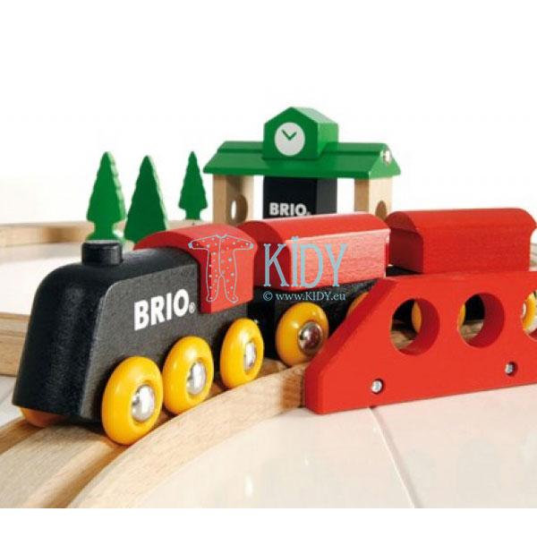 Traukinių rinkinys medinis, 8 dalys (Brio) 8