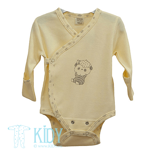 Yellow PEPPER bodysuit with mitts