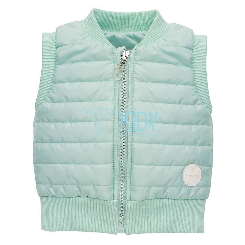 Mint quilted SPRING LIGHT vest