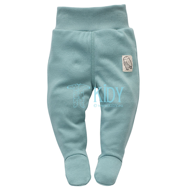 Turquoise STAY GREEN footed pants