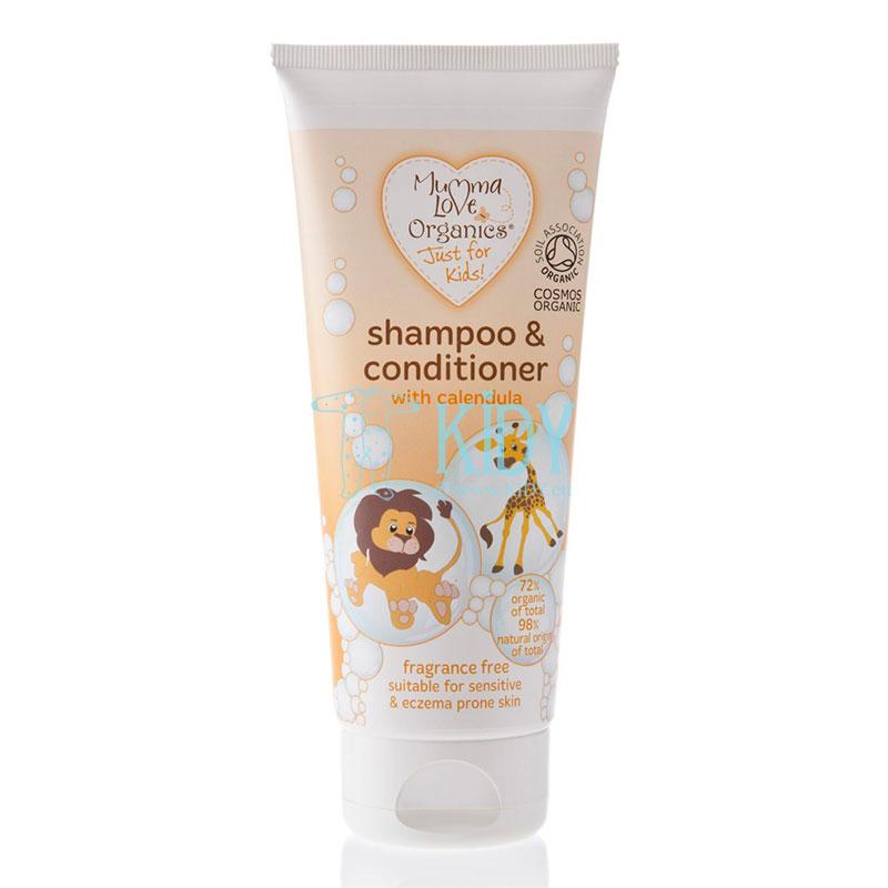 Naturalus šampūnas ir kondicionierius su medetkomis
