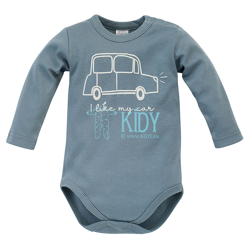 Blue LITTLE CAR bodysuit