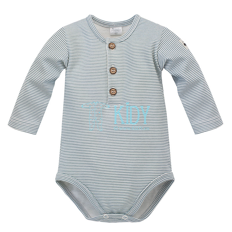 Striped LITTLE CAR polo bodysuit