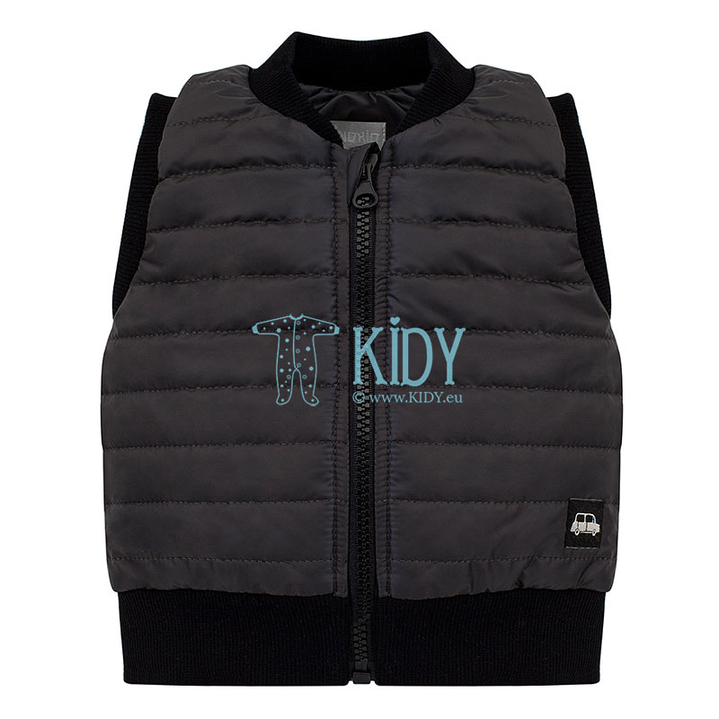 Black LITTLE CAR quilted vest