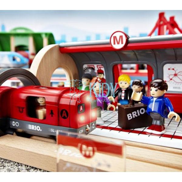 Rinkinys su traukinio bėgiais Metro railway (Brio) 9