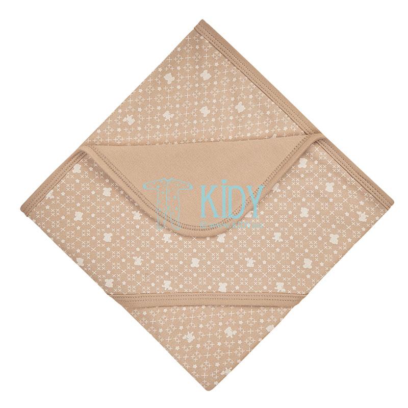 9 pcs brown ORGANIC unisex baby layette set for newborns (BIO Baby) 9